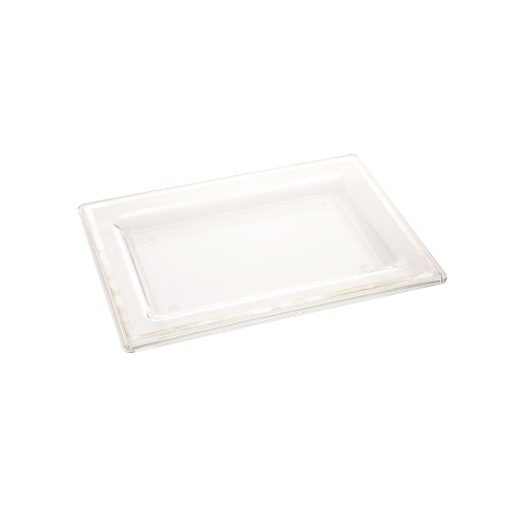 Egizia Glass Tray with Silver Trim