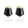 Crystal Beer Goblet Glasses Set of 2