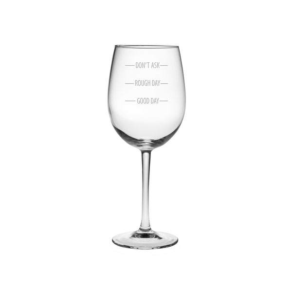 Don't Ask Wine Glass