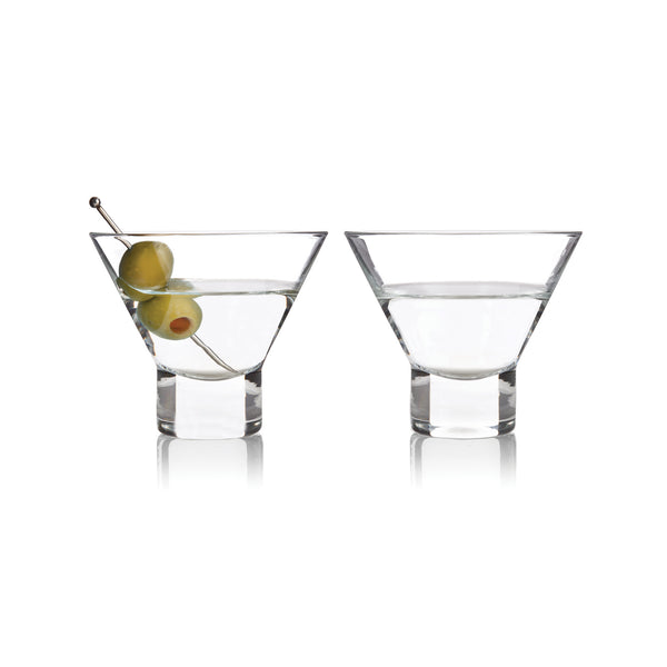 Stemless Martini Glasses Set of 2