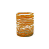 Mexican Handblown Tumbler  - Orange Swirl