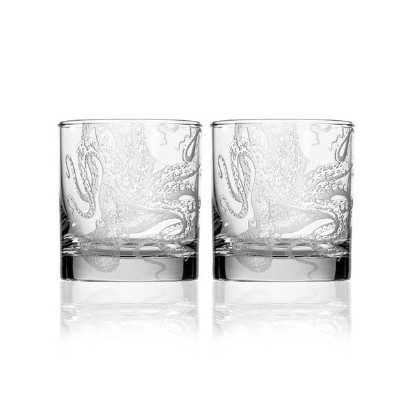 Lucy On the Rocks Glass Set of 2