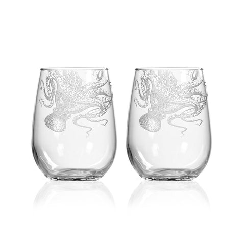 Lucy Stemless Wine Glasses Set of 2