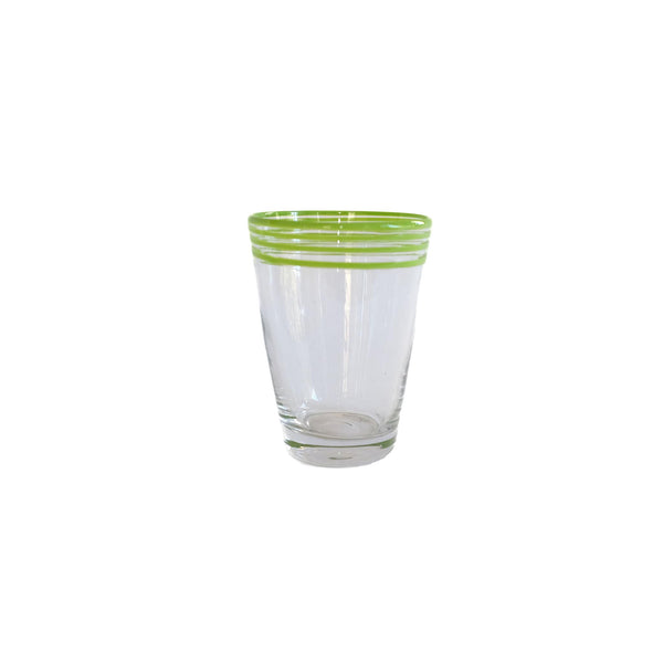 Swirl Pop Juice Glass - Lime Green