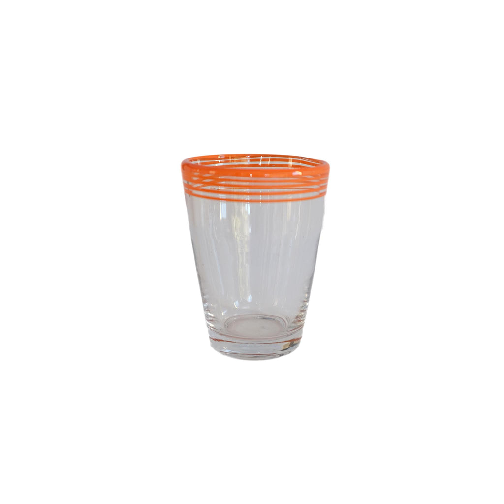 Swirl Pop Juice Glass - Orange