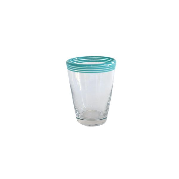 Swirl Pop Juice Glass - Turquoise