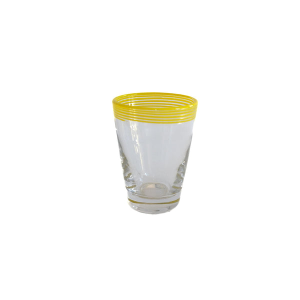 Swirl Pop Juice Glass - Yellow