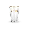 Gold Rimmed Cheers Pint Glass Empty