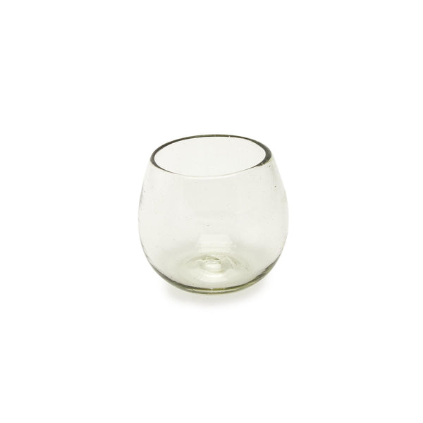 Recycled Glass Roly Poly Wine Glass