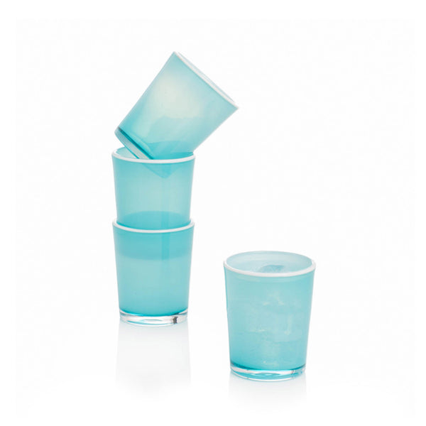 Hand-blown Summer Tumbler - Sea Spray
