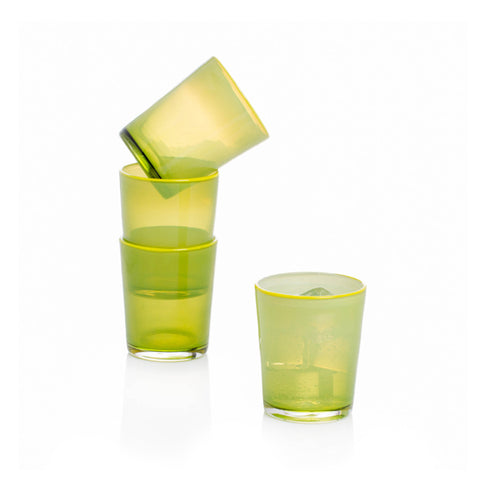 Hand-blown Summer Tumbler - Lime