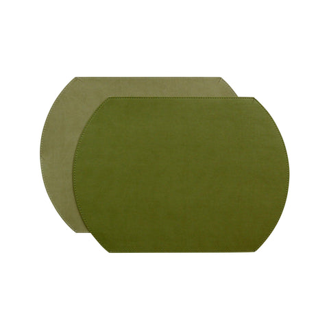 Gallery Oval Reversible Placemat - Sage/Clay