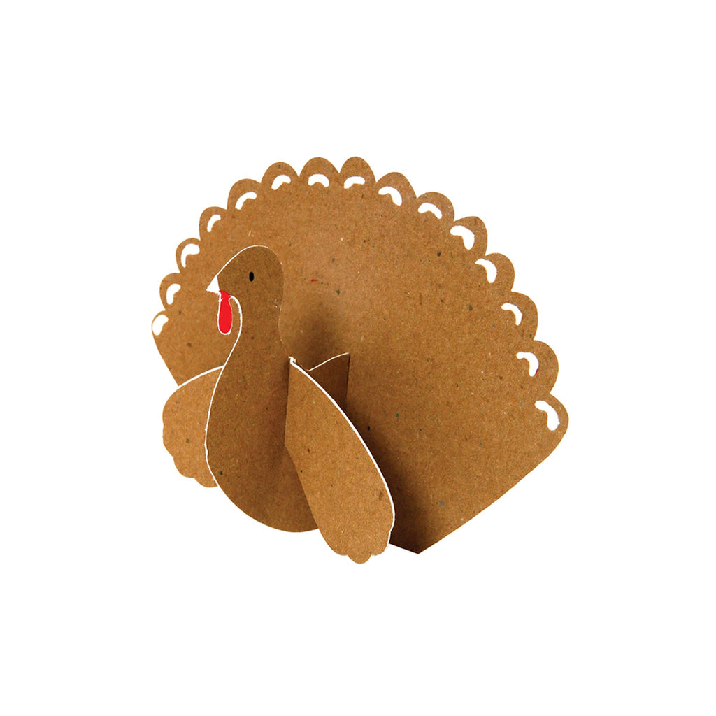 Placecards Set of 10 - Turkey Die Cut