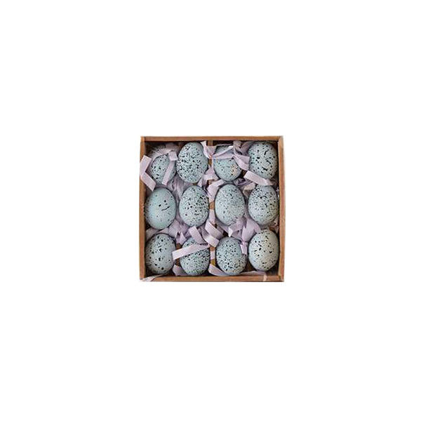 Boxed Dozen Ceramic Eggs