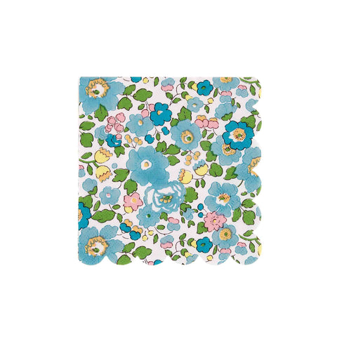 Liberty Print Betsy Green Beverage Napkins