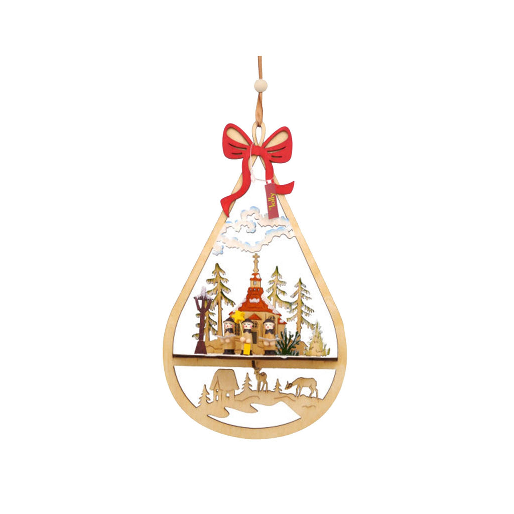 Large Wood Christmas Ornament - Carolers