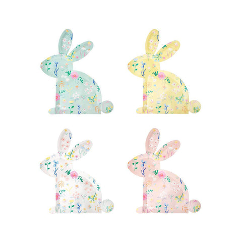 Wildflower Patterned Bunny Plates