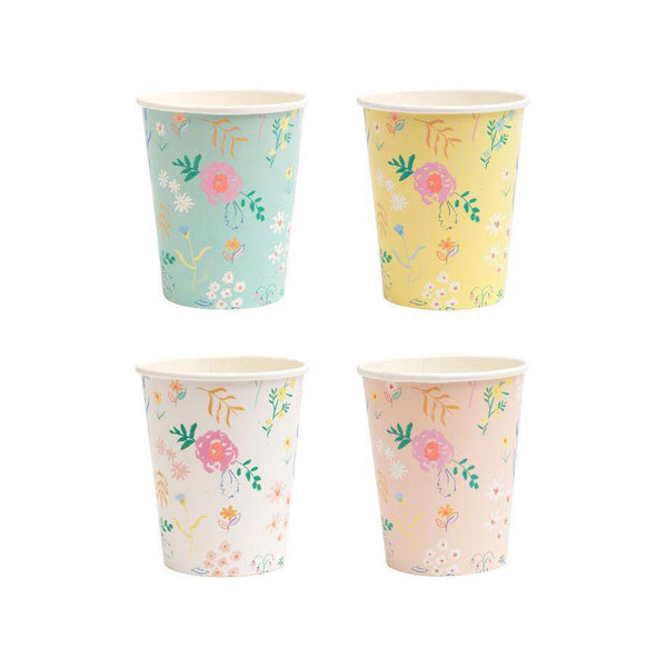 Wildflower Patterned Cups