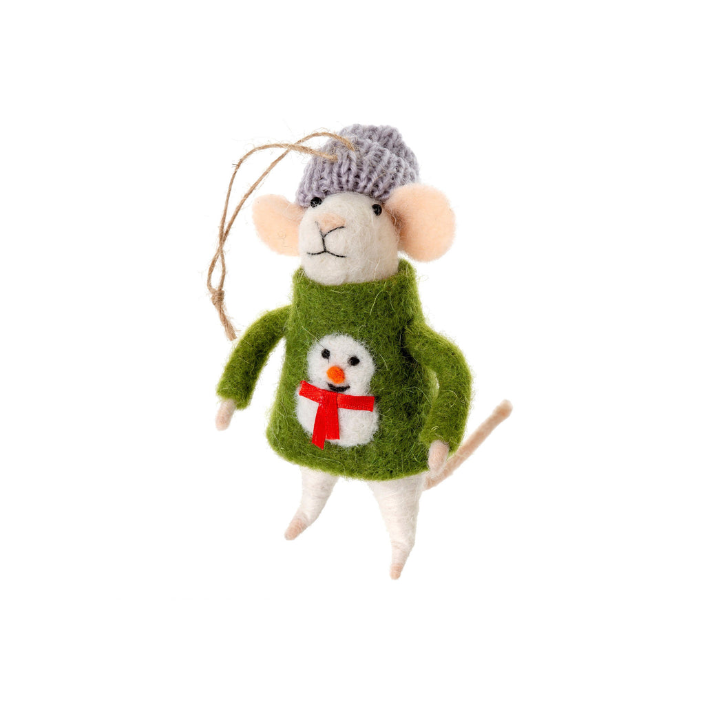 Mouse Ornament - Ugly Sweater Sid