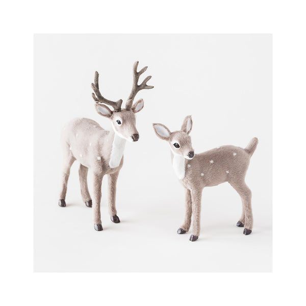 Grey Reindeer Figures