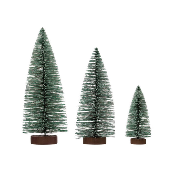 Glittery Bottle Brush Trees