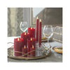 LuxuryLite Wax Pillar Candles - Red