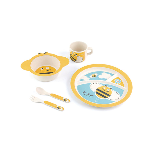 Bamboo Fiber 5PC Kids Mealtime Set - Bumble Bee