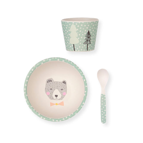 Bamboo Baby 3PC Bowl Set - Hungry Bear