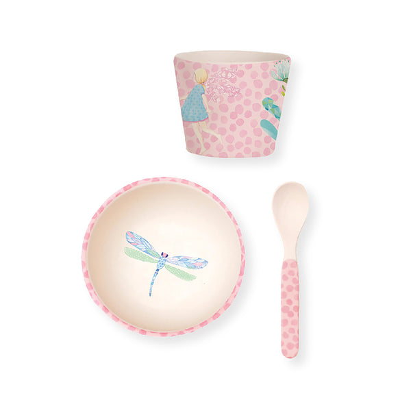 Bamboo Baby 3PC Bowl Set - Fairy Garden