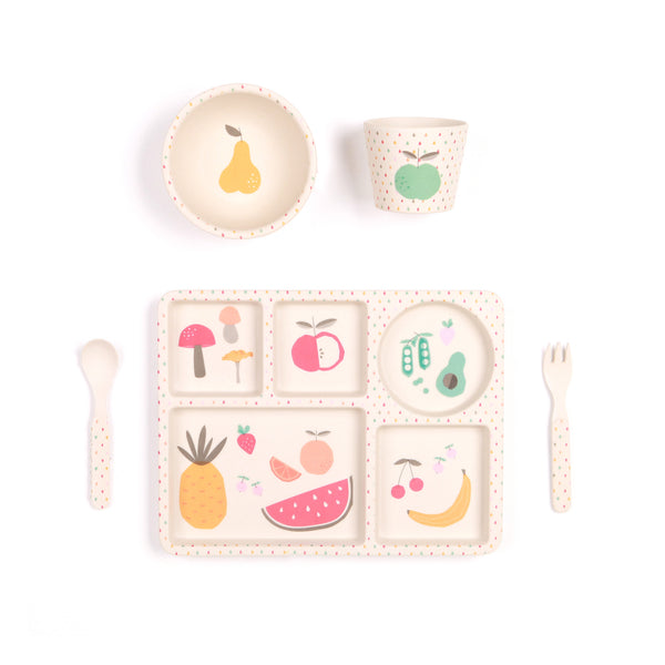 Bamboo 5PC Mealtime Set - Eat Your Greens