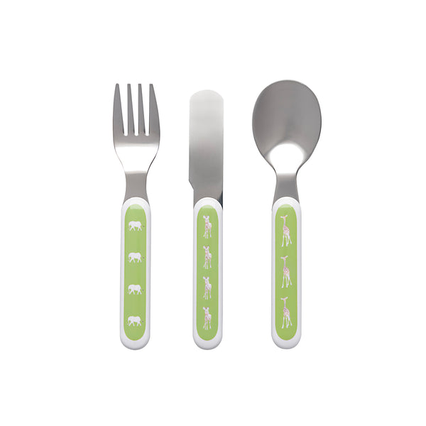 Children's Melamine Cutlery Set -Safari