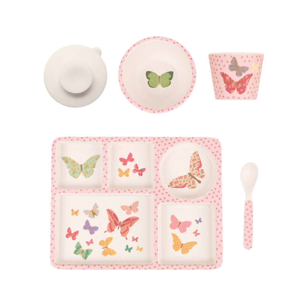 Bamboo Divided Plate Set - Butterflies