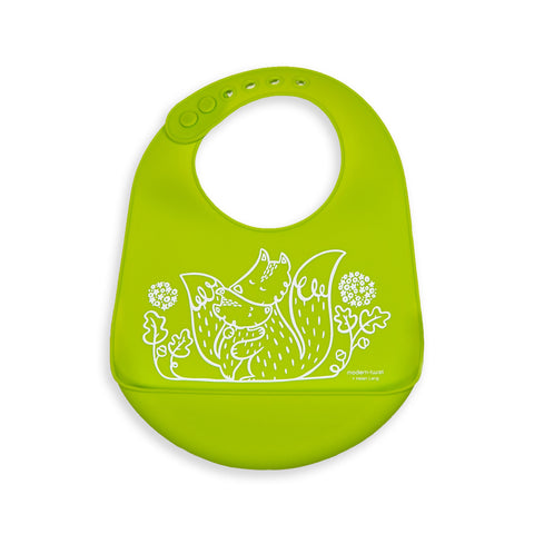 Modern Twist Baby Bucket Bib - Foxes
