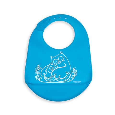 Modern Twist Baby Bucket Bib - Owls