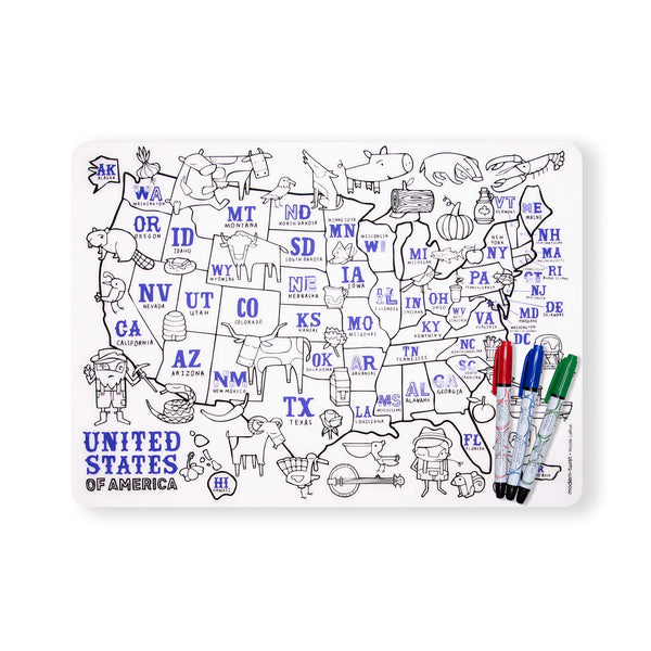 Mark-Mat Set - USA Map