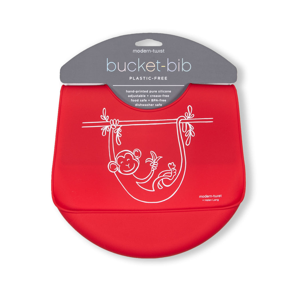 Modern Twist Bucket Bib - Monkey Business