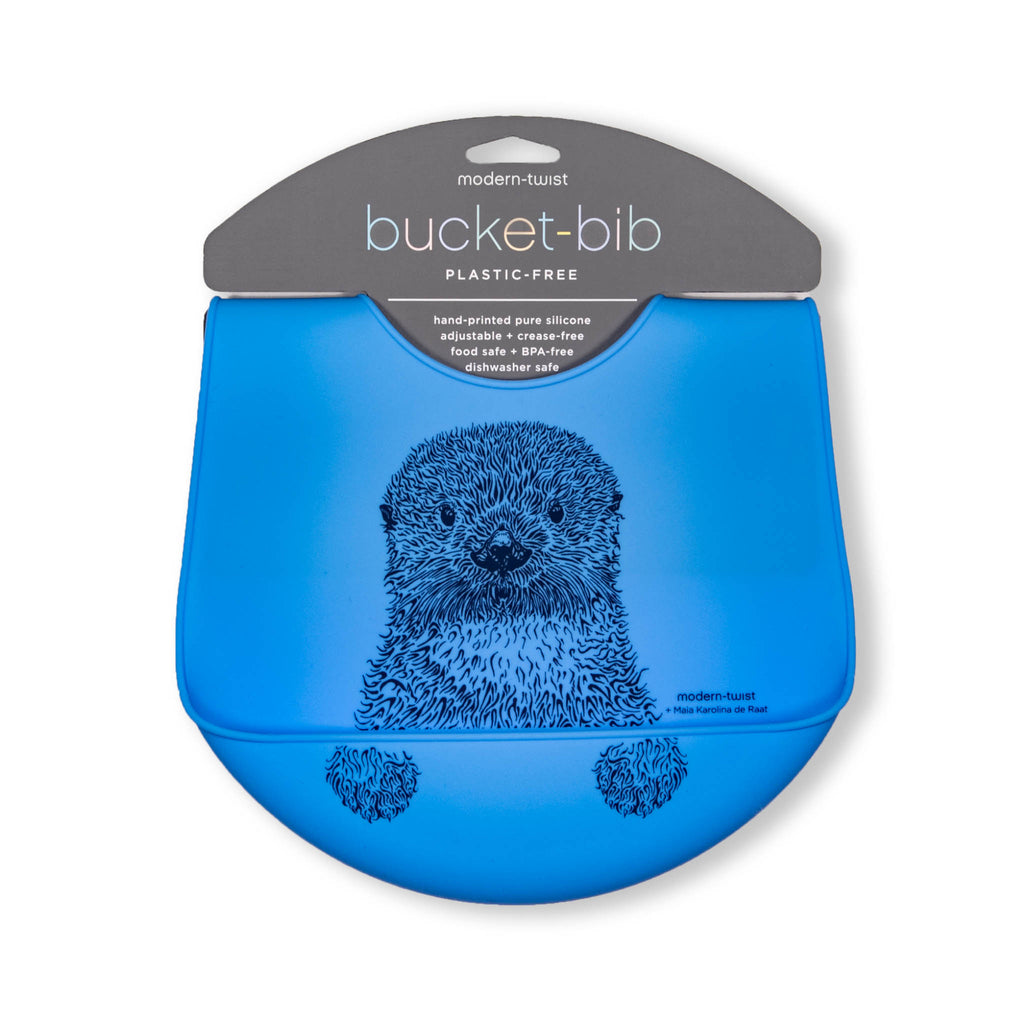 Modern Twist Bucket Bib - Curious Otter