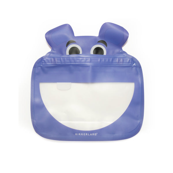 Animal Zipper Bag - Hippo