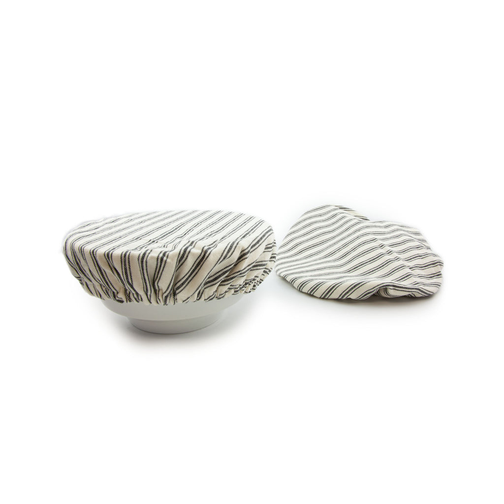 Ticking Stripe Save It Bowl Covers Set of 2