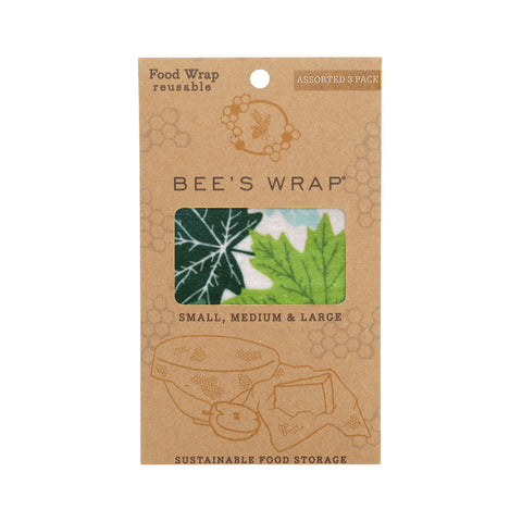 Bee's Wrap Assorted Wrap Set of 3 - Forest Floor
