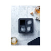 Peak Ice Works Silicone Ice Tray - King Cubes - Charcoal