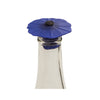 Silicone Poppy Bottle Stopper - Blue Night