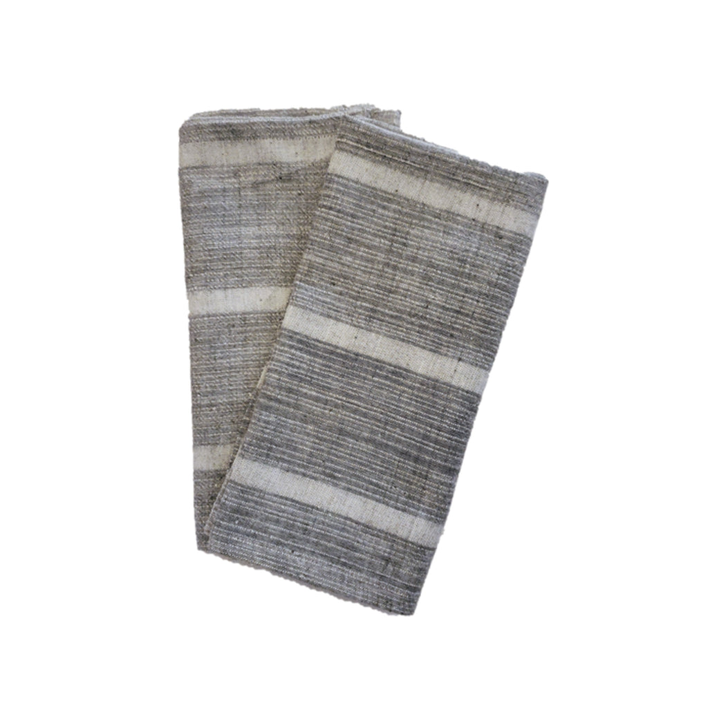 Organic Cotton Naturally Dyed Napkins Set of 2 - Slate Grey