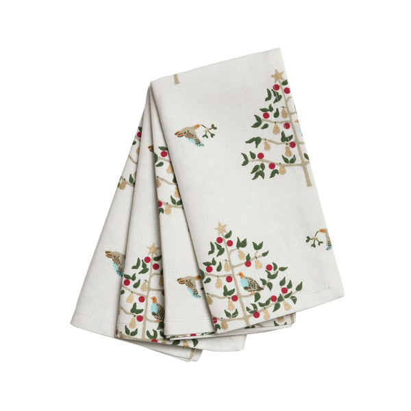 Partridge in a Pear Tree Napkins Set of 4