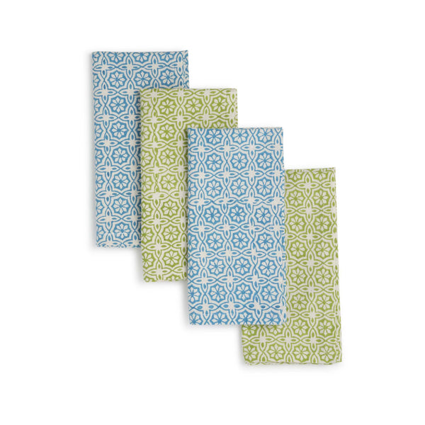 Hand Block Printed Napkins Set of 4 - Delight