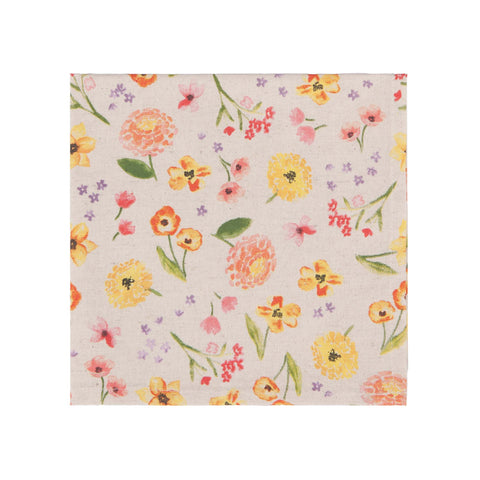 Cottage Floral Print Napkin Set of 4