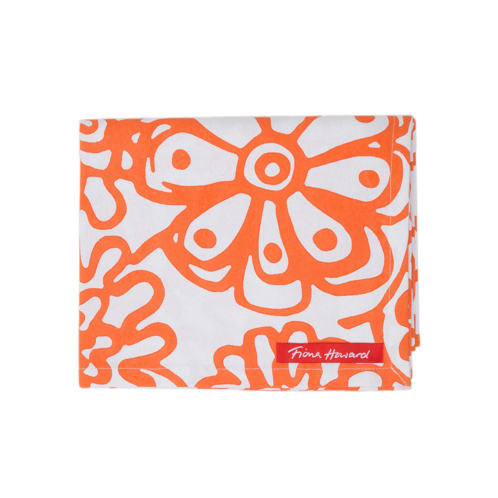 Fiona Howard Tea Towel - Orange
