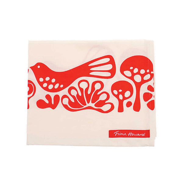 Fiona Howard Tea Towel - Red Doves