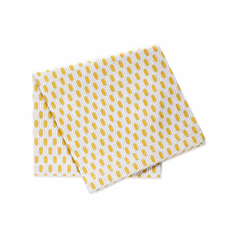 Organic Brooklyn Cocktail Napkin Set of 4 - Citron