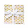 Organic Brooklyn Cocktail Napkin Set of 4 - Citron - Ribboned